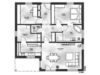 Bungalow 4 von Massive Wohnbau Grundriss 1