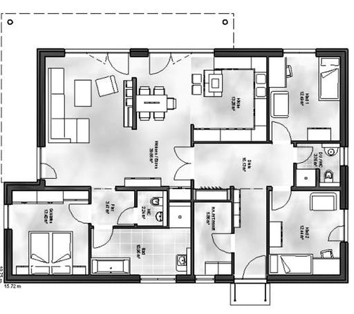 Massive Wohnbau - Bungalow 5 Floorplan 1