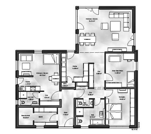 Massive Wohnbau - Bungalow 6 Floorplan 1