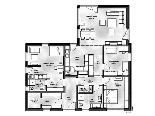 Bungalow 6 von Massive Wohnbau Grundriss 1