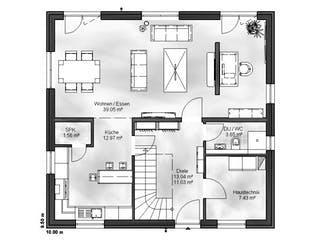 Einfamilienhaus Ben von Massive Wohnbau Grundriss 1