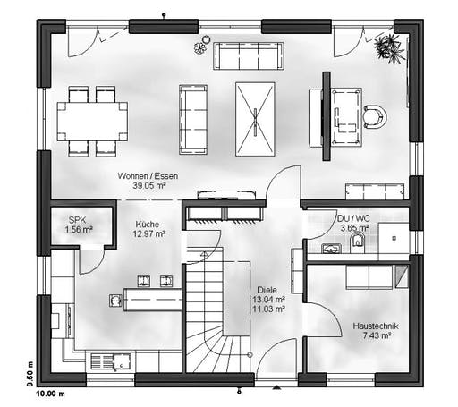 Massive Wohnbau - EFH Ben Floorplan 1