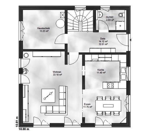 Massive Wohnbau - EFH Emma Floorplan 1
