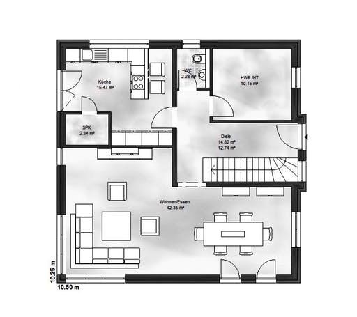 Massive Wohnbau - Stadtvilla 2 Floorplan 1