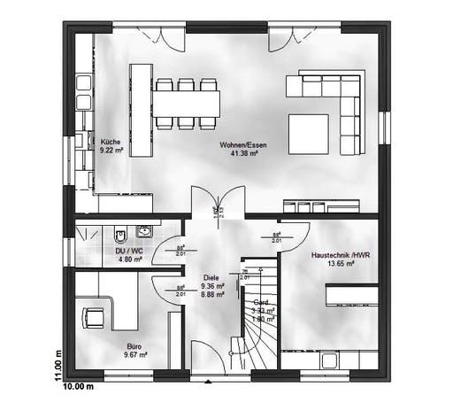 Massive Wohnbau - Stadtvilla 7 Floorplan 1