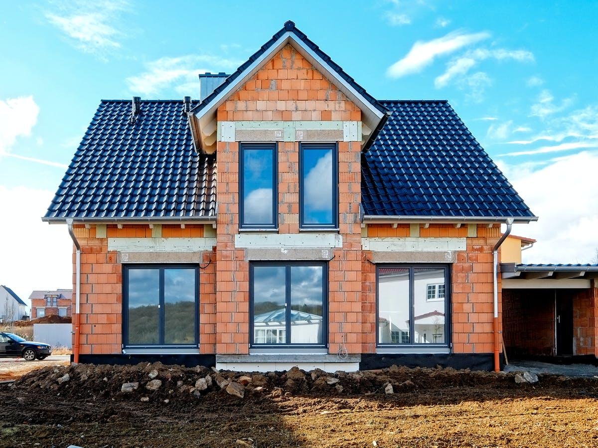 Massivhaus Ausbauhaus Außenansicht