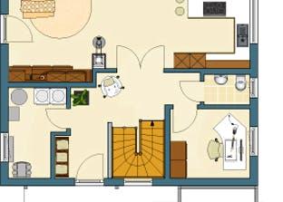 MEDLEY 210 A – Einfamilienhaus mit Holzverschalung Grundriss