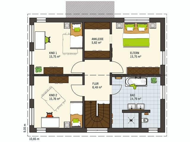 Geschlossener Grundriss Medley Erdgeschoss