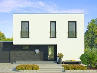 x-black 1 – Bauhaus-Villa mit Garage von Meisterstück-HAUS Außenansicht 1