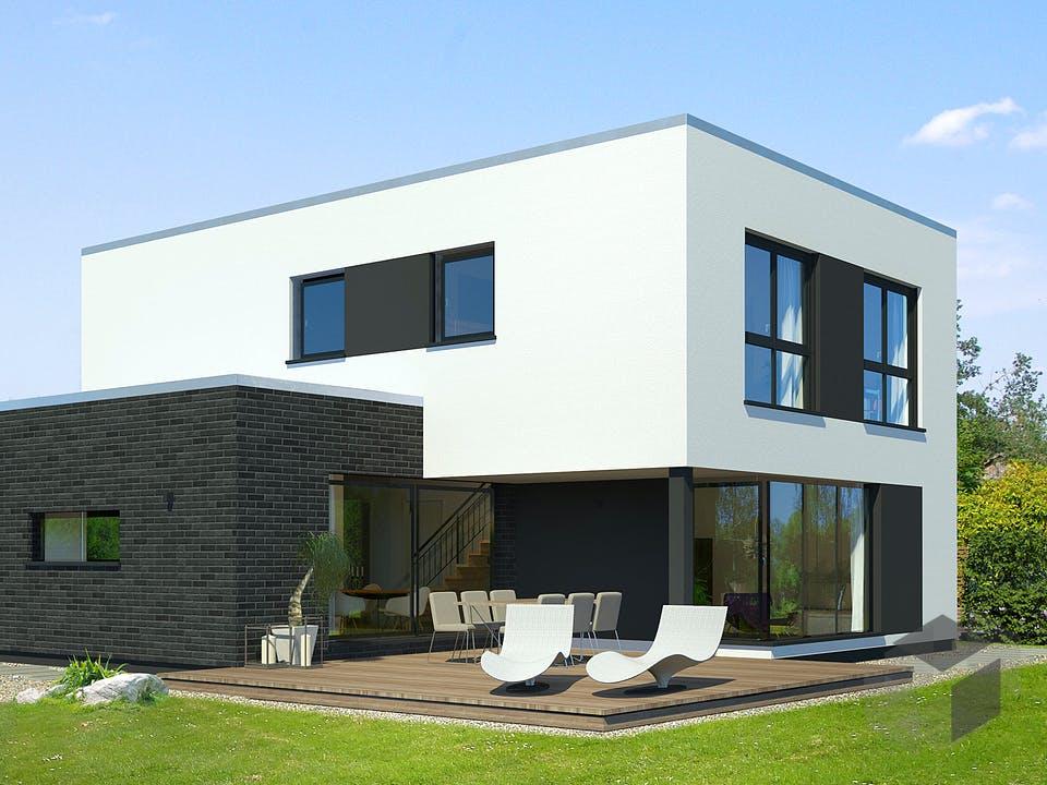 x-black 2 – Bauhaus-Villa von Meisterstück-HAUS Außenansicht