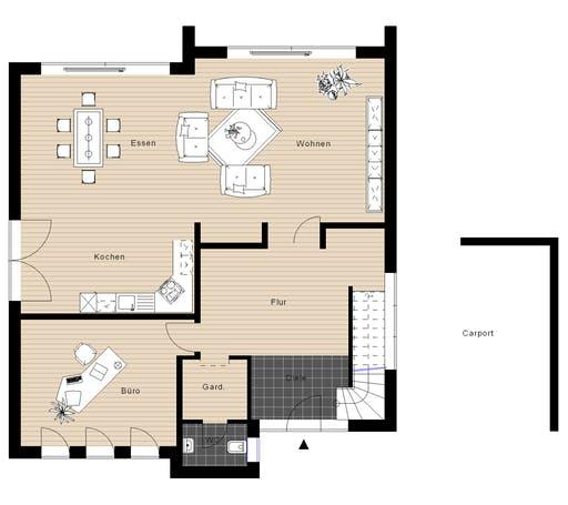 Meisterwerk - Flachdach210 Floorplan 1
