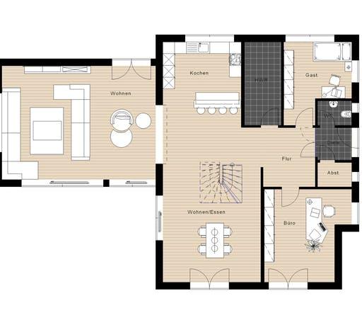 Meisterwerk - Flachdach238 Floorplan 1