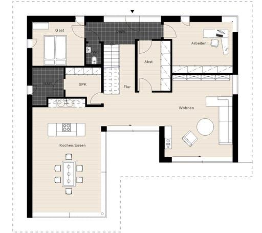Meisterwerk - Flachdach250 Floorplan 1
