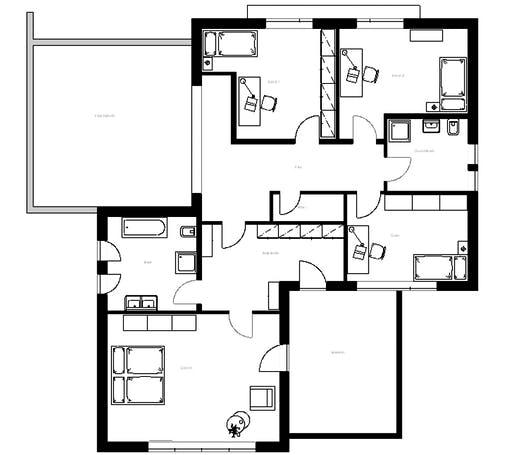 Meisterwerk - Flachdach282 Floorplan 2