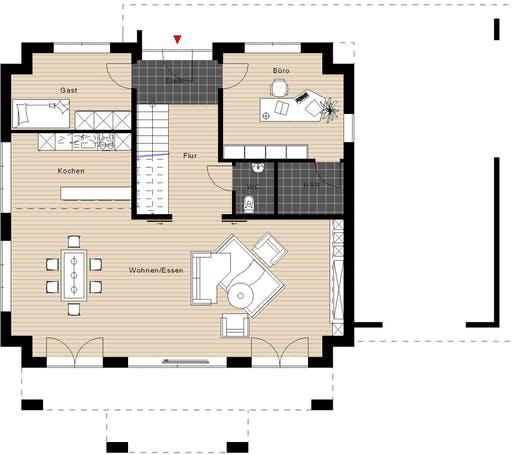 Meisterwerk - Walmdach234 Floorplan 1