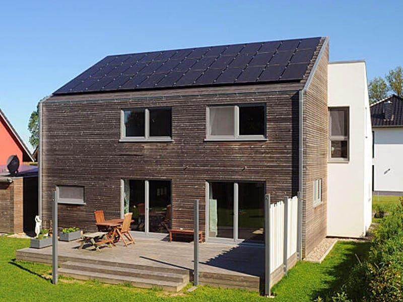 Terrasse modernes Satteldachhaus von Meldorf Naturbau