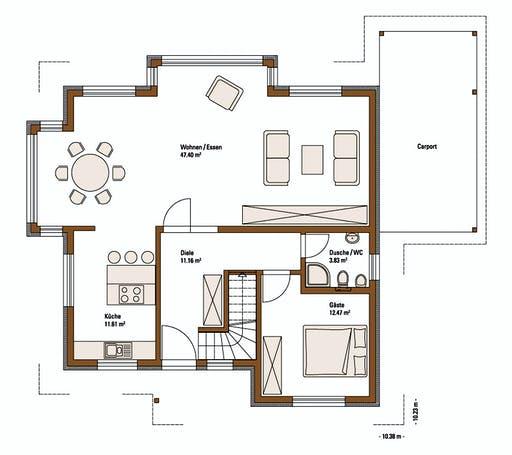 FH Weiss - Musterhaus BAD VILBEL Floorplan 1