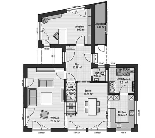 Musterhaus Bad Vilbel J 142 Floorplan 1