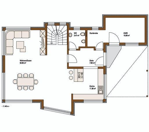 FH Weiss - Musterhaus ERLANGEN Floorplan 1