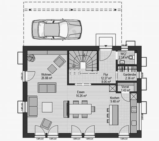 Musterhaus Falkenberg 139 Floorplan 1