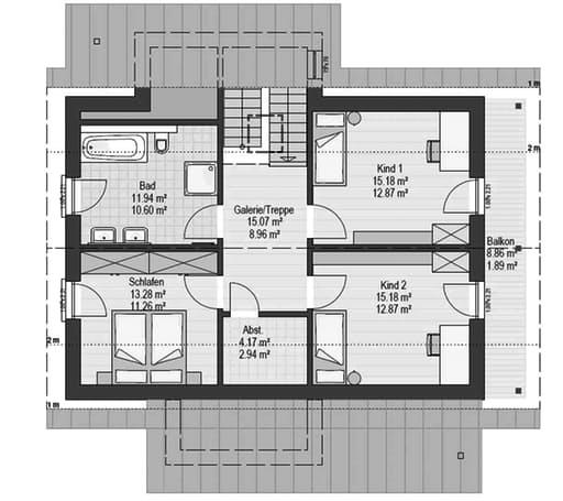 Musterhaus Falkenberg B 160 Floorplan 2