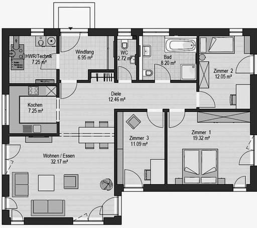Musterhaus Falkenberg B 120 Floorplan 1