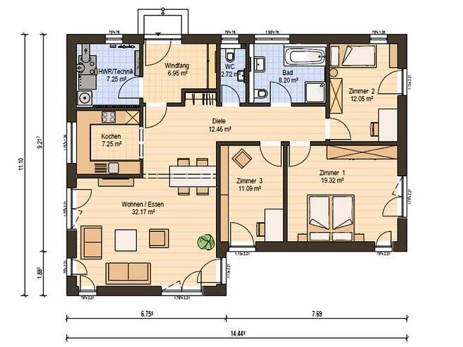 Haas MH Falkenberg B 120 Floorplan 2