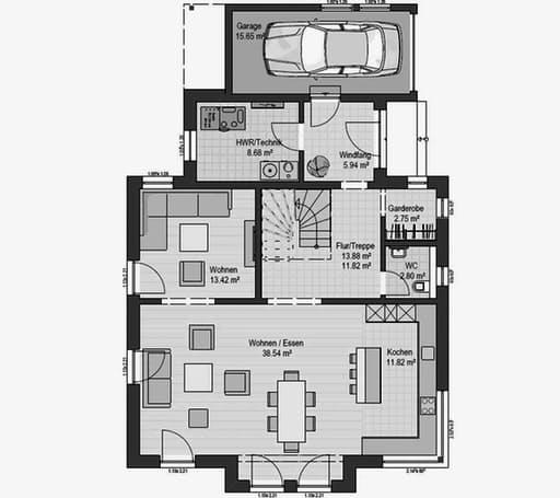Musterhaus Fellbach 163 Floorplan 1