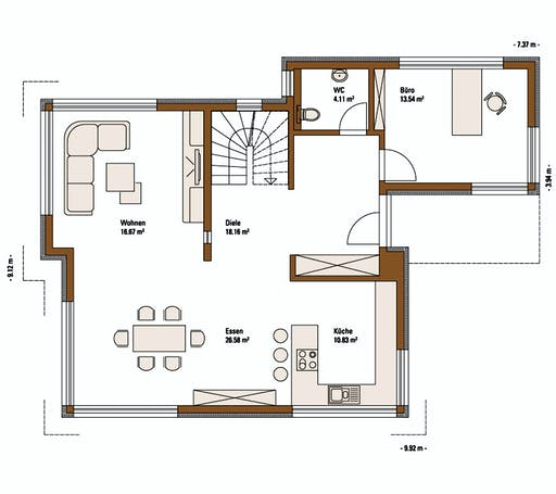 FH Weiss - Musterhaus FELLBACH EMOTION Floorplan 1
