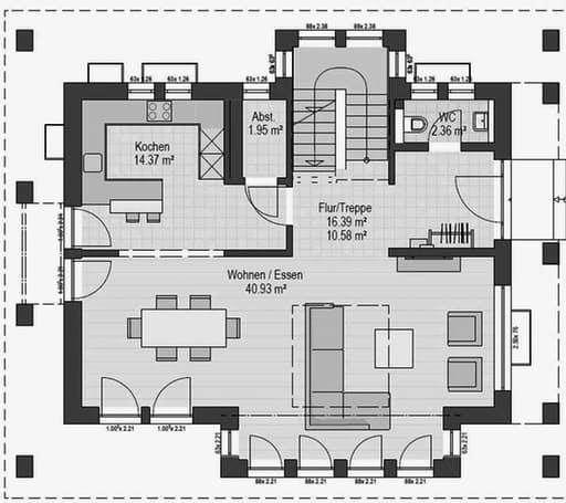 Musterhaus Hirschaid 151 Floorplan 1