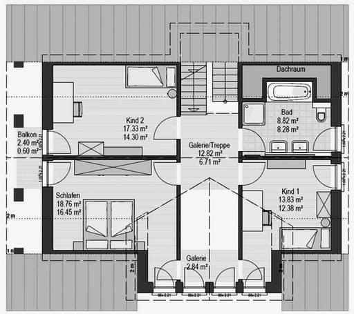 Musterhaus Hirschaid 151 Floorplan 2