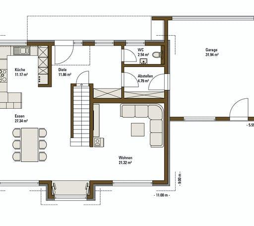 FH Weiss - Musterhaus LIFE Floorplan 1