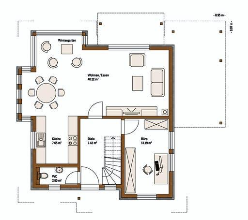 FH Weiss - Musterhaus MANNHEIM FAMILY Floorplan 1