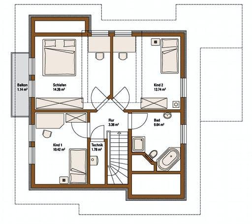 FH Weiss - Musterhaus MANNHEIM FAMILY Floorplan 2