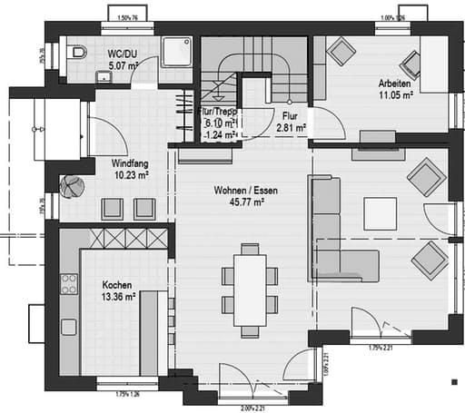 Musterhaus Suhr 179 Floorplan 1