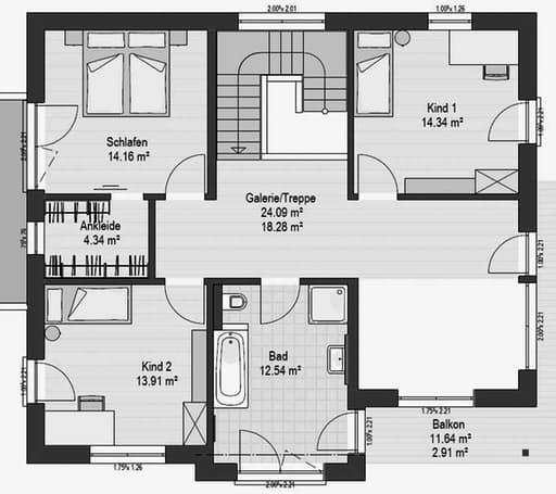 Musterhaus Suhr 179 Floorplan 2