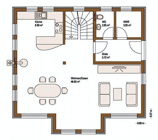 FH Weiss - Musterhaus VISION Floorplan 1
