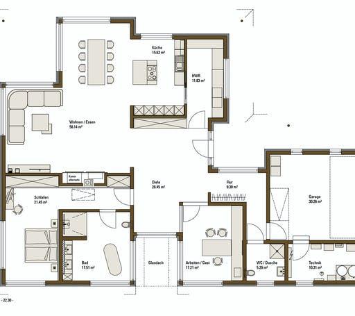 FH Weiss - Musterhaus VITA Floorplan 1