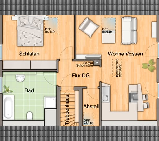 Mitwachshaus Flair 148 floor_plans 2