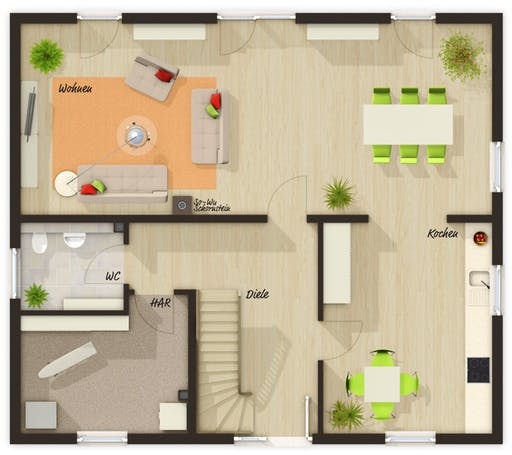 Mitwachshaus Flair 148 Trend Floorplan 1