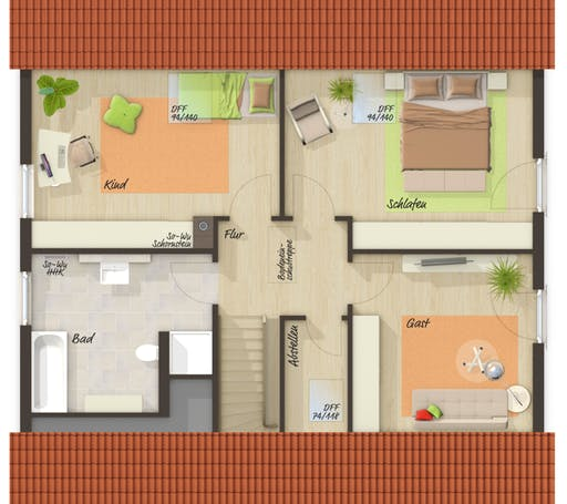 Mitwachshaus Flair 148 Trend Floorplan 2