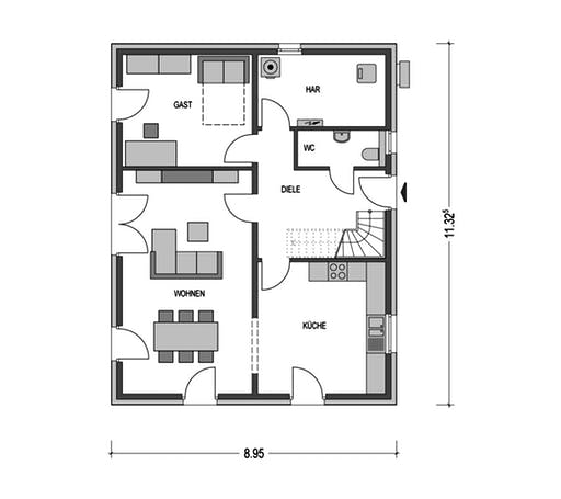 Modern 1000.2 Floorplan 1