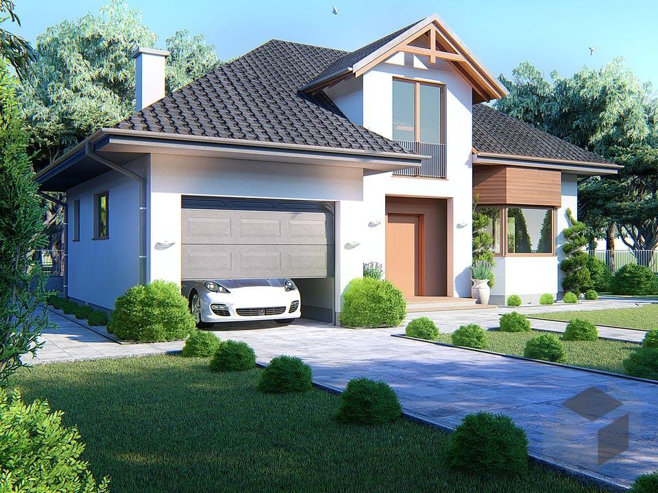Idyllisches Einfamilienhaus von Modern Immo Außenansicht