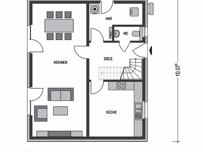 Modicus M51.D Floorplan 1