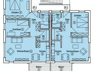 Münch - Kundenhaus von Baufritz Grundriss 1