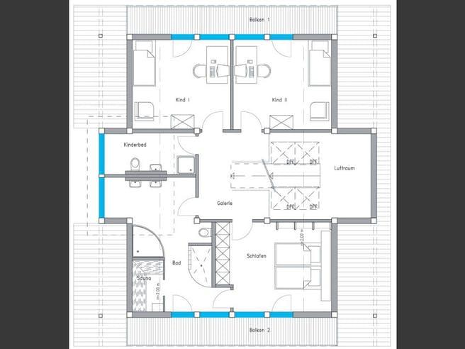 Musterhaus Langenhagen - Ästhetik von Meisterstück-HAUS Grundriss 1