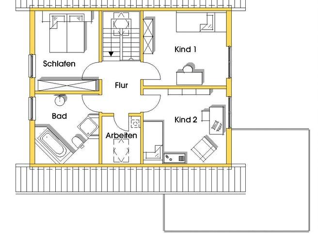 Myrna (KfW-Effizienzhaus 40) von Dammann-Haus Grundriss 1