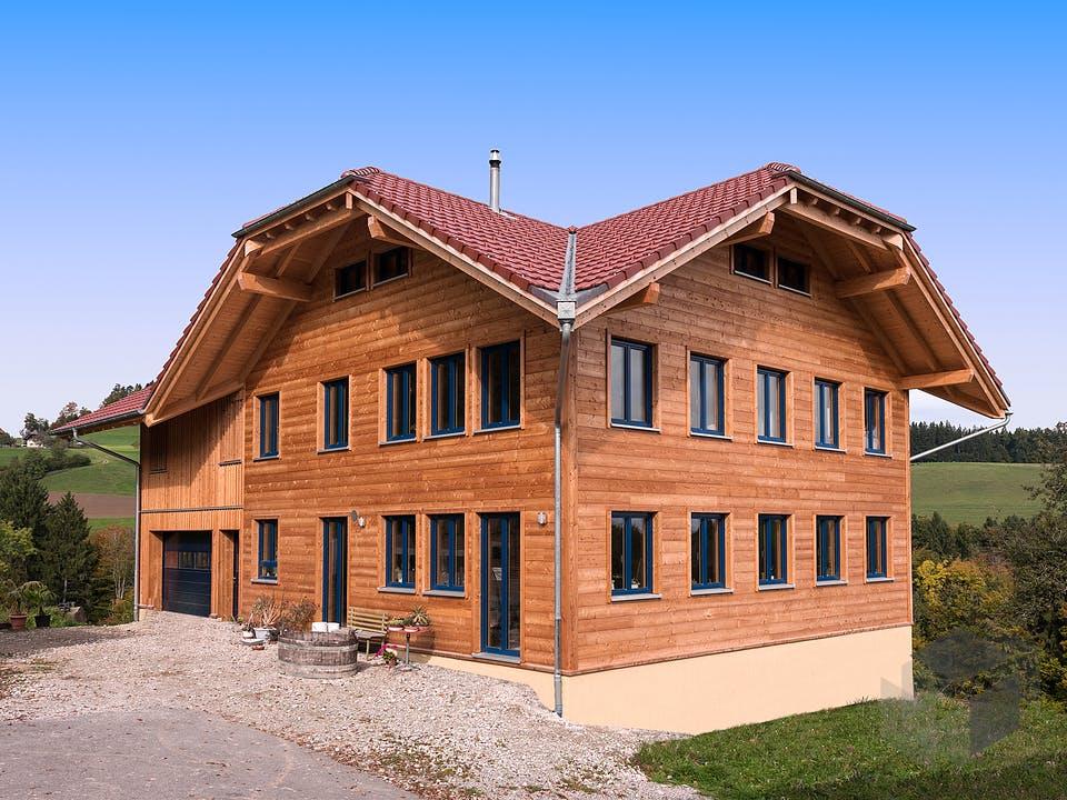B420 Montigel von Frammelsberger Holzhaus Außenansicht