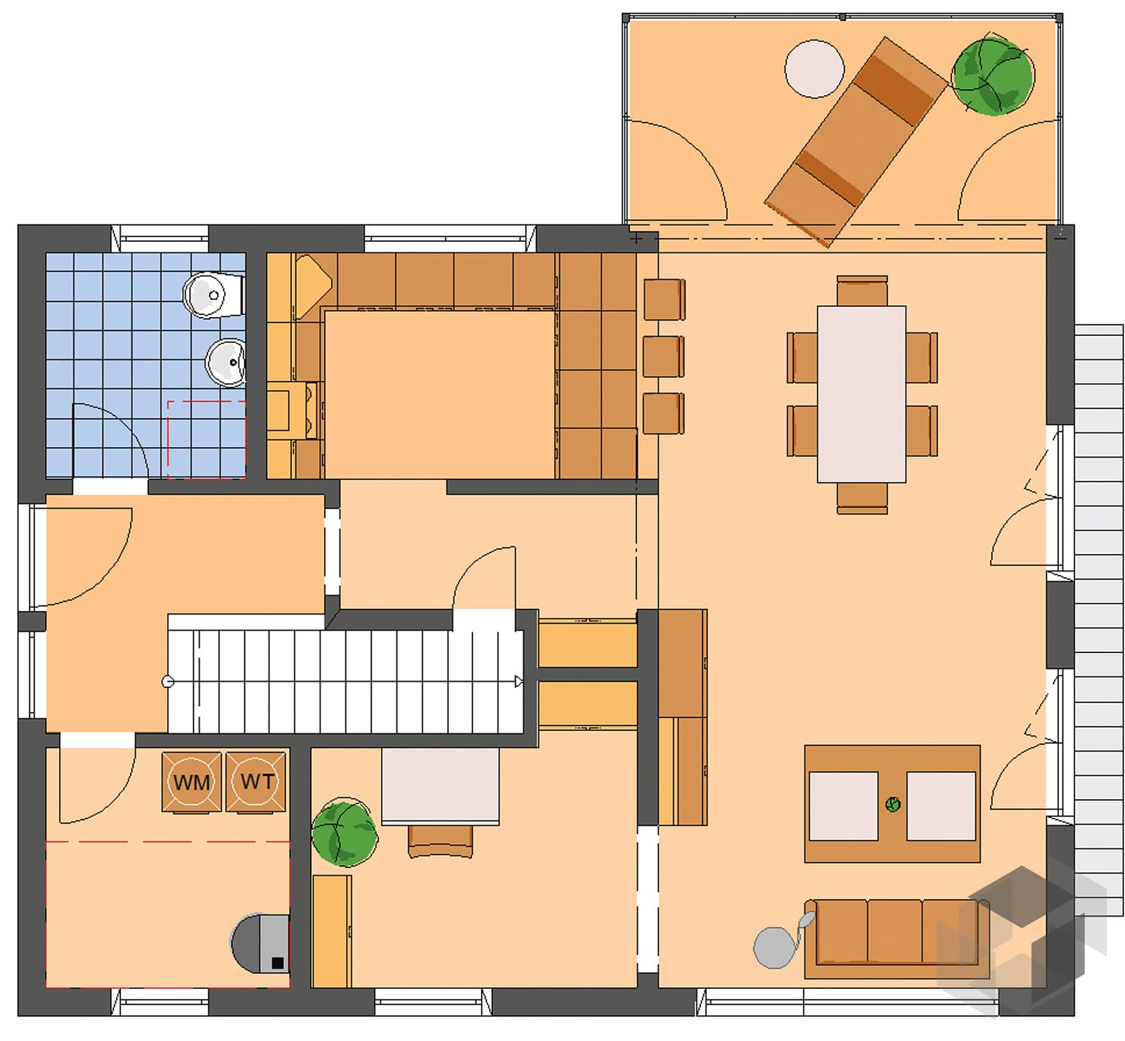 Neo 312 musterhaus wuppertal aktionshaus inactive von for Floor plans for 160 000