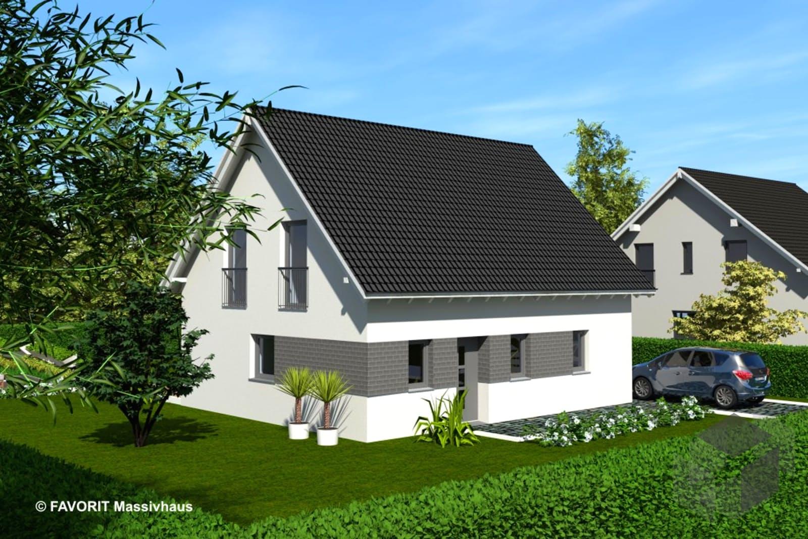 noblesse 128 von favorit massivhaus komplette. Black Bedroom Furniture Sets. Home Design Ideas